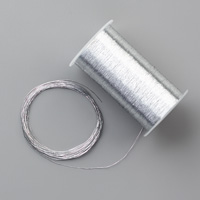 metallic silver thread