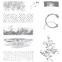 Timeless Textures Wood-Mount Stamp Set