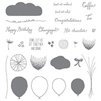 balloon birthday stamps
