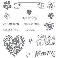 Blüten Der Liebe Photopolymer Stamp Set (German)