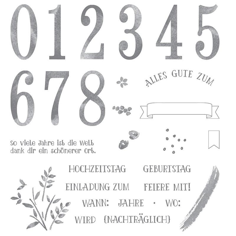 So Viele Jahre Photopolymer Stamp Set (German)