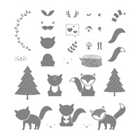 fox forest stamp set