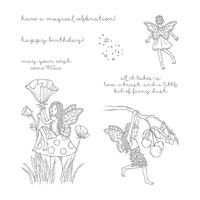 fairy flower stamp set
