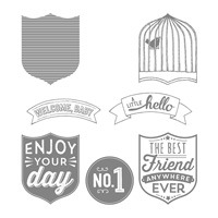 Badges & Banners Clear-Mount Stamp Set