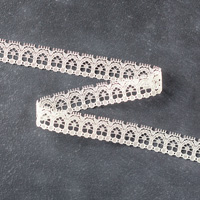 1/2 cream-colored lace trim