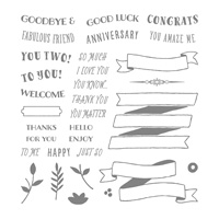 greetings message stamp set