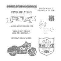 One Wild Ride Clear-Mount Stamp Set
