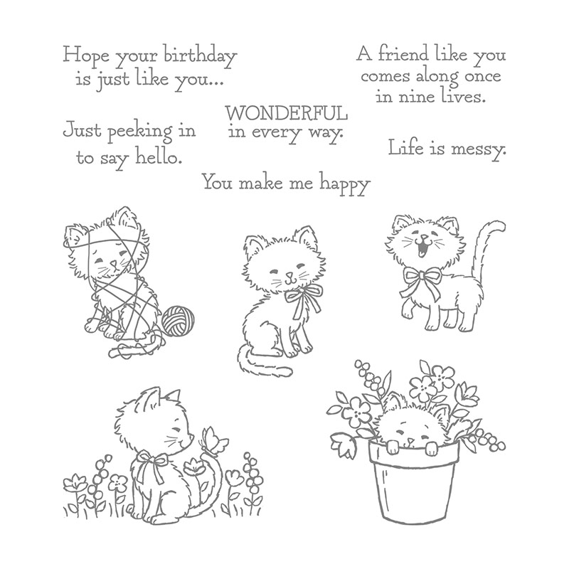 cute cat crafting stamps
