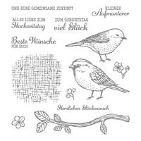 Vogelhochzeit Photopolymer Stamp Set (German)