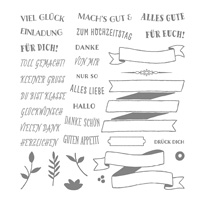 Bannereien Photopolymer Stamp Set (German)