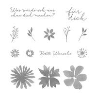 Durch Die Blume Photopolymer Stamp Set (German)