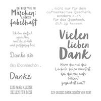 Zum Dank Clear-Mount Stamp Set (German)