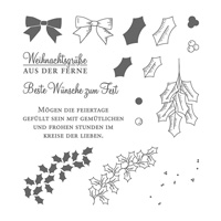 Adventsgrün Photopolymer Stamp Set (German)
