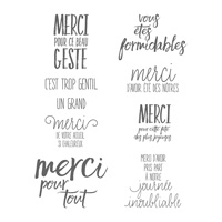 Tous Les Mercis Clear-Mount Stamp Set (French)
