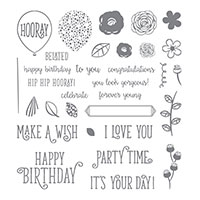 birthday celebration stamp set