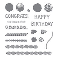cake congrats stamp set