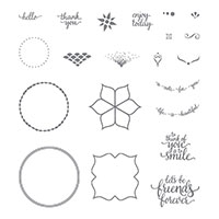shaped bold stamp set