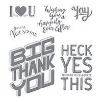 Great Big Greetings Photopolymer Stamp Set
