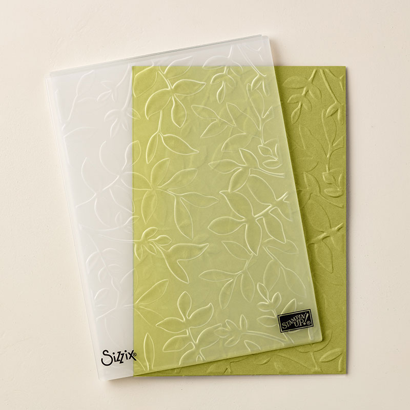 Layered Leaves Dynamic Textured Impressions Embossing Folder