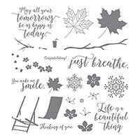 seasonal leaves stamp set