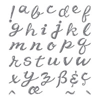 letters alphabet stamp set