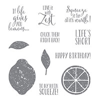 Lemon Zest Wood-Mount Stamp Set