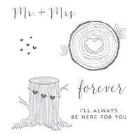 Always & Forever Wood-Mount Stamp Set