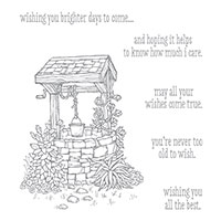 Bright Wishes Wood-Mount Stamp Set