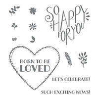 Born to Be Loved Clear-Mount Stamp Set