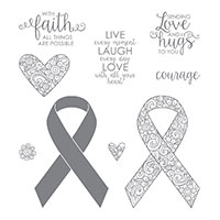 Ribbon of Courage Clear-Mount Stamp Set