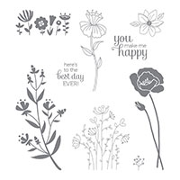 Flirty Flowers Clear-Mount Stamp Set