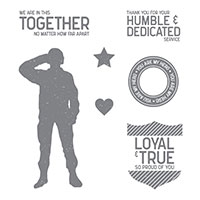 military hero stamp set