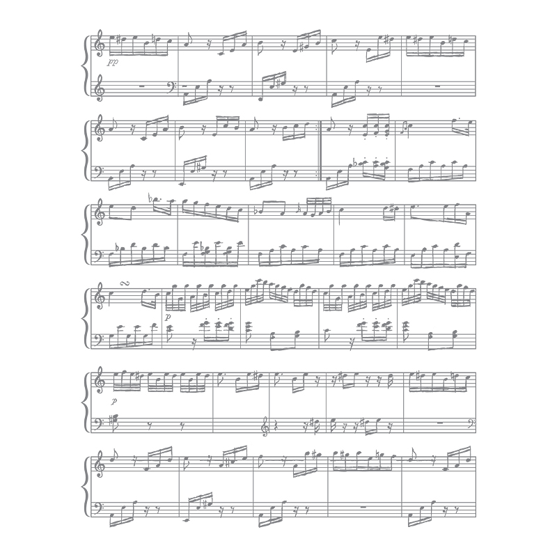 Sheet Music Clear-Mount Stamp Set