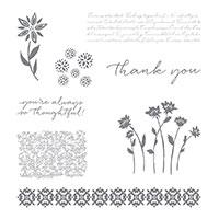 Background Bits Wood-Mount Stamp Set