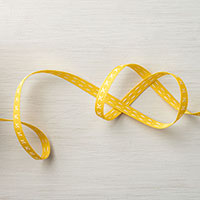 yellow 1/4 ribbon