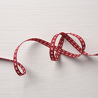 Cherry Cobbler 1/4 Double-Stitched Ribbon