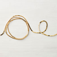gold mini-sequin trim