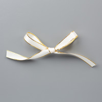 white 3/8 ribbon gold trim