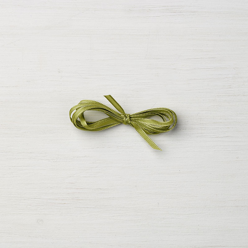 "Old Olive 1/8"" Sheer Ribbon"