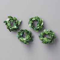 miniature wreath embellishments