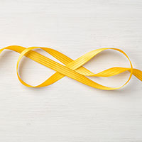 Crushed Curry 3/8 Stitched Satin Ribbon