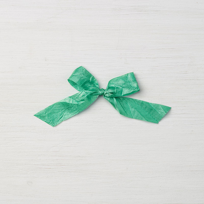 "Emerald Envy 5/8"" Crinkled Seam Binding Ribbon"