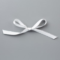 silver and white 3/8 ribbon