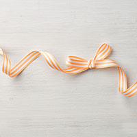 Peekaboo Peach 3/8 Striped Grosgrain Ribbon