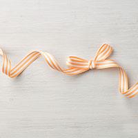 Peekaboo Peach 3/8 Striped Grosgrain Ribbon