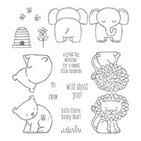 A Little Wild Clear-Mount Stamp Set