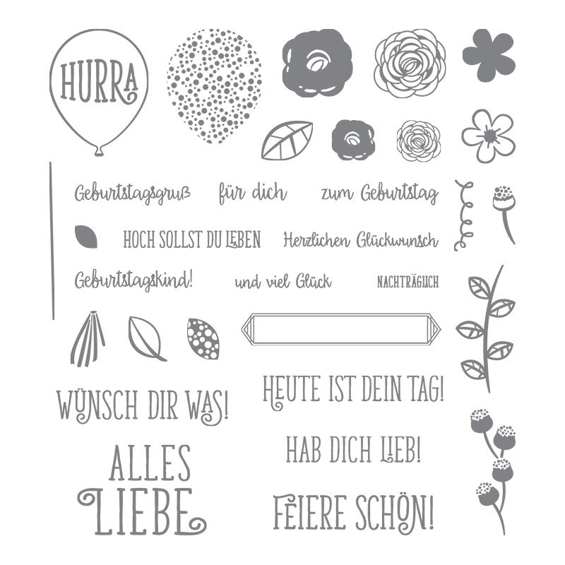 Alles Liebe, Geburtstagskind! Photopolymer Stamp Set (German)