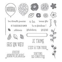 Joyeux anniversaire beauté Photopolymer Stamp Set (French)