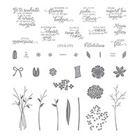 Ravissant bouquet Photopolymer Stamp Set (French)