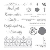 Segensfeste Photopolymer Stamp Set (German)